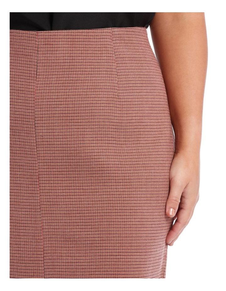 Small Check Split Front Skirt image 4