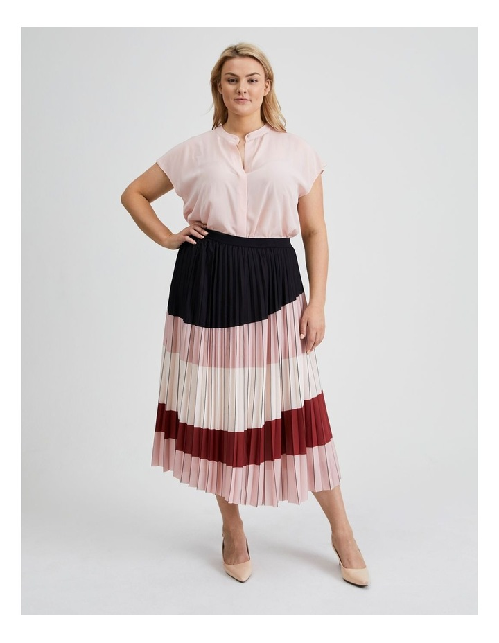 Colour Blocked Pleated Skirt image 1
