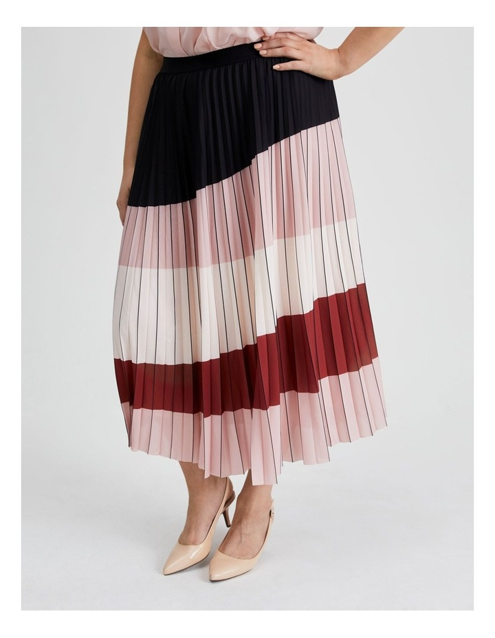 Colour Blocked Pleated Skirt image 2