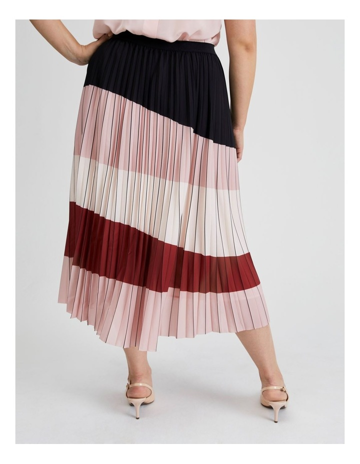 Colour Blocked Pleated Skirt image 3