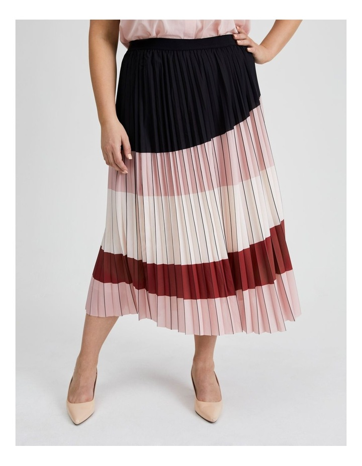 Colour Blocked Pleated Skirt image 4