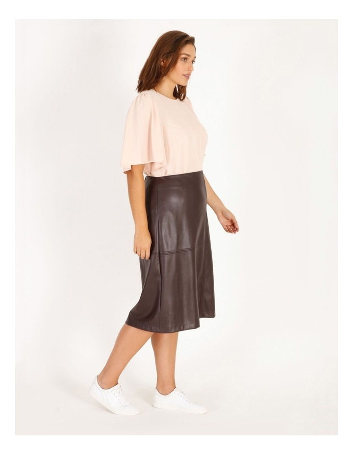 Faux Leather Aline Skirt image 2