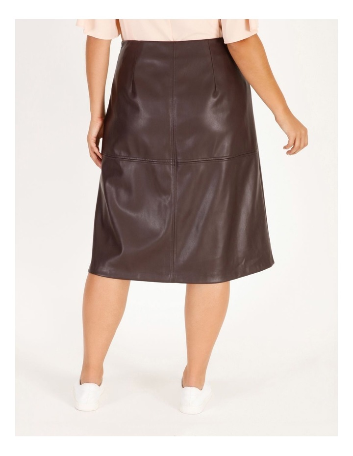 Faux Leather Aline Skirt image 3