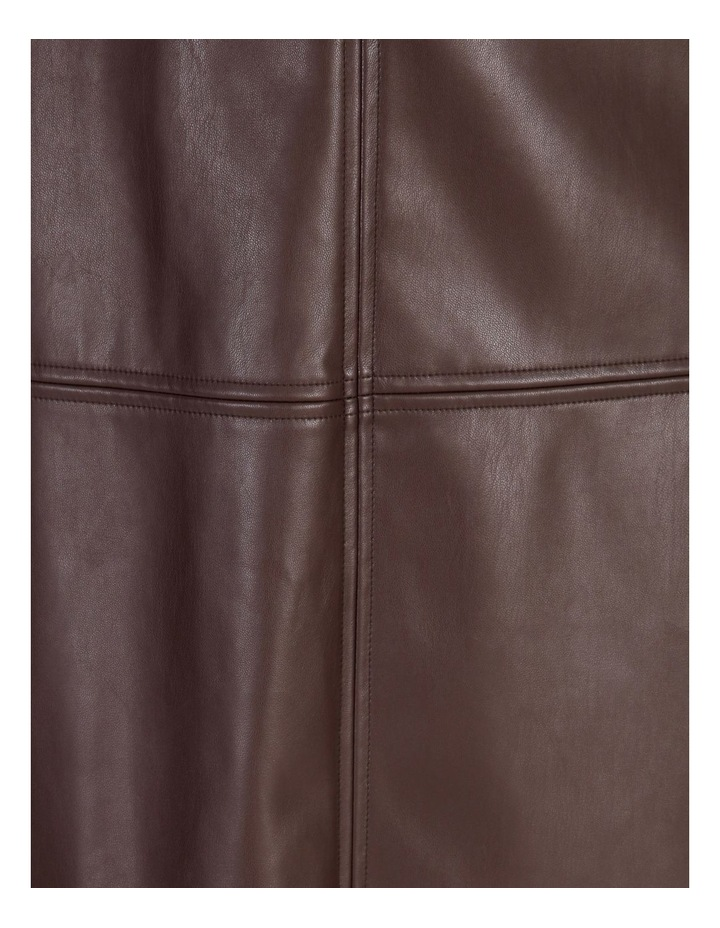 Faux Leather Aline Skirt image 5