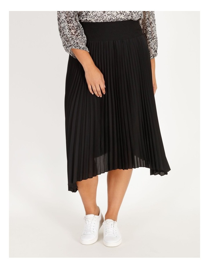 Pleated Skirt With Shirred Waist image 1