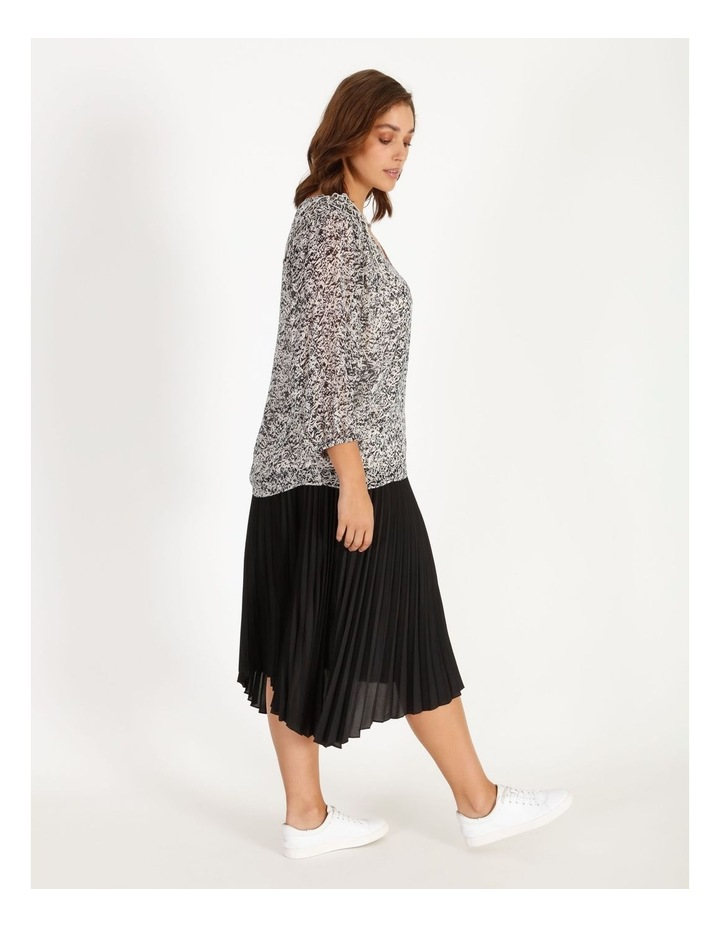 Pleated Skirt With Shirred Waist image 2