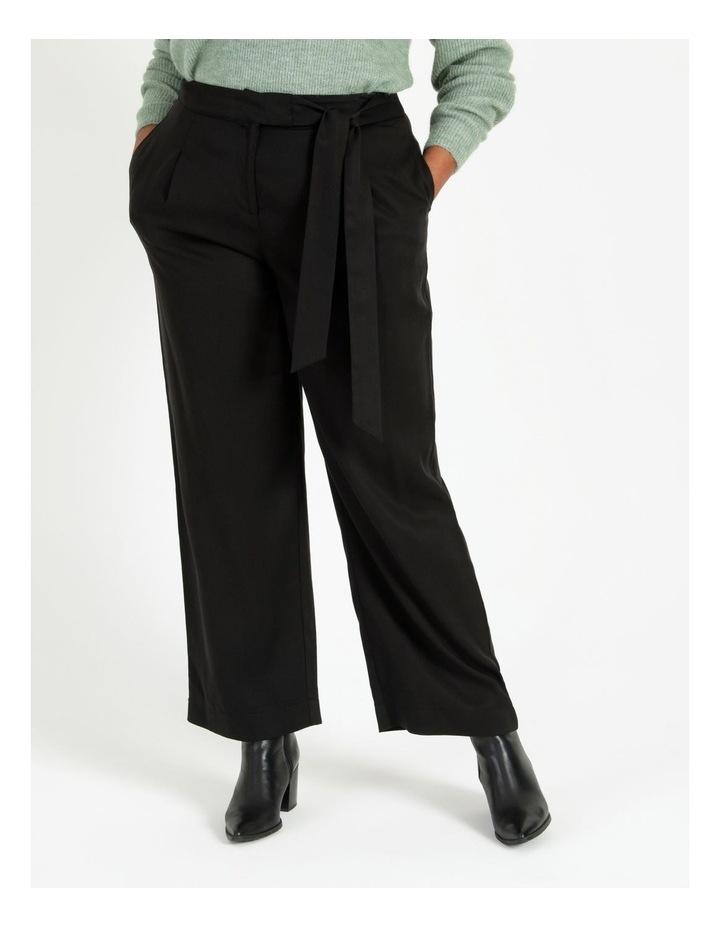 Black Wide Length Pants image 1