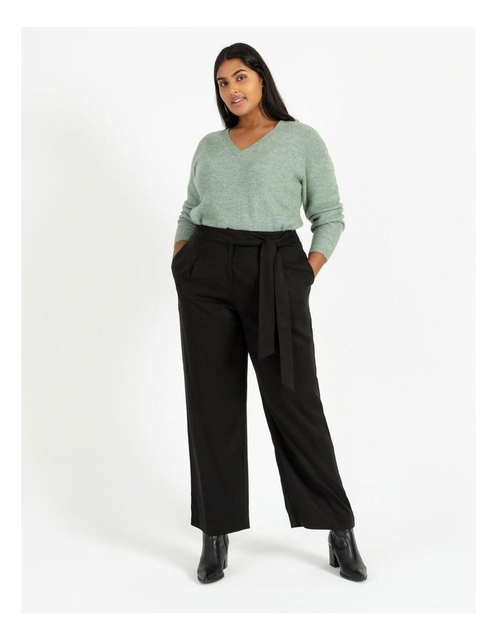 Black Wide Length Pants image 2