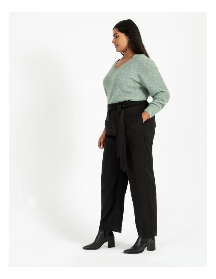 Black Wide Length Pants image 3