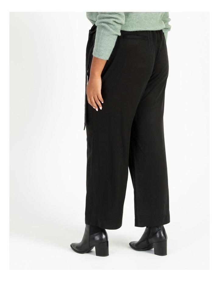 Black Wide Length Pants image 4
