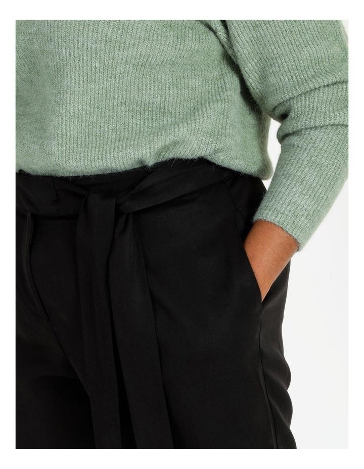 Black Wide Length Pants image 5
