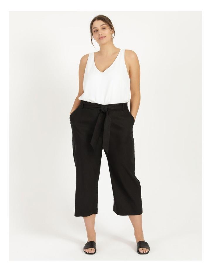 Self Tie Wide Leg Linen Pant image 4