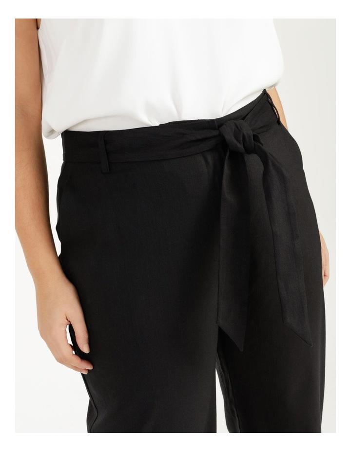 Self Tie Wide Leg Linen Pant image 6