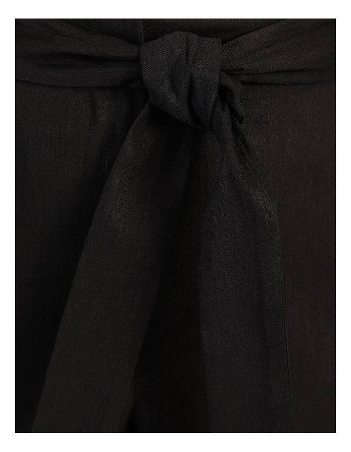 Self Tie Wide Leg Linen Pant image 7