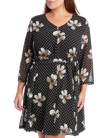 cd6d2e8bf98 Basque Woman V-Neck Spot Floral Dress