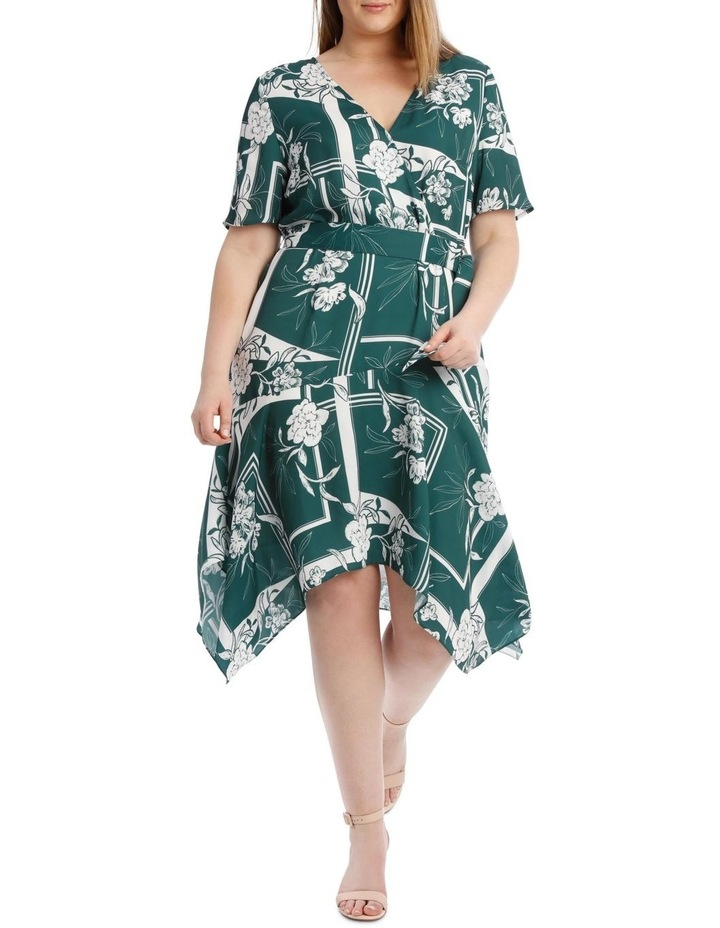 Belted Asym Printed Dress image 1