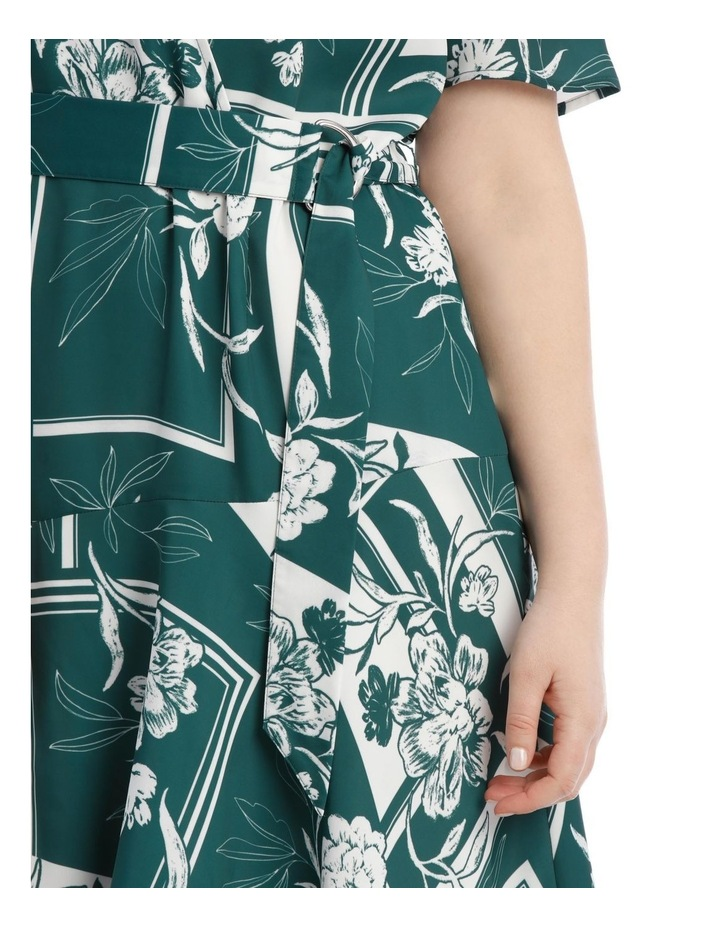 Belted Asym Printed Dress image 4