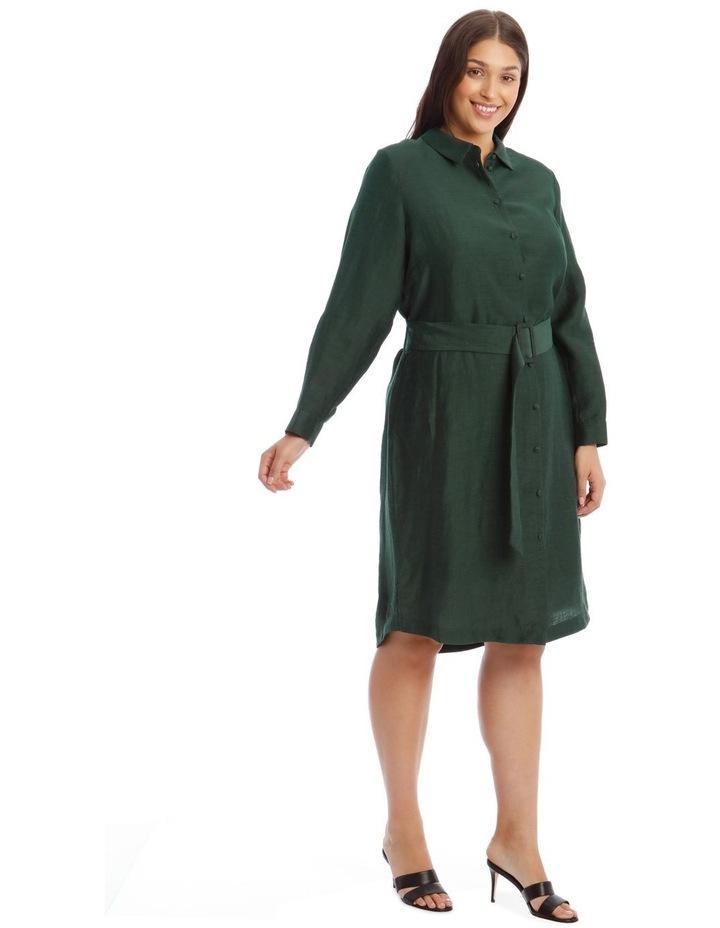 Linen Blend Shirt Dress image 2