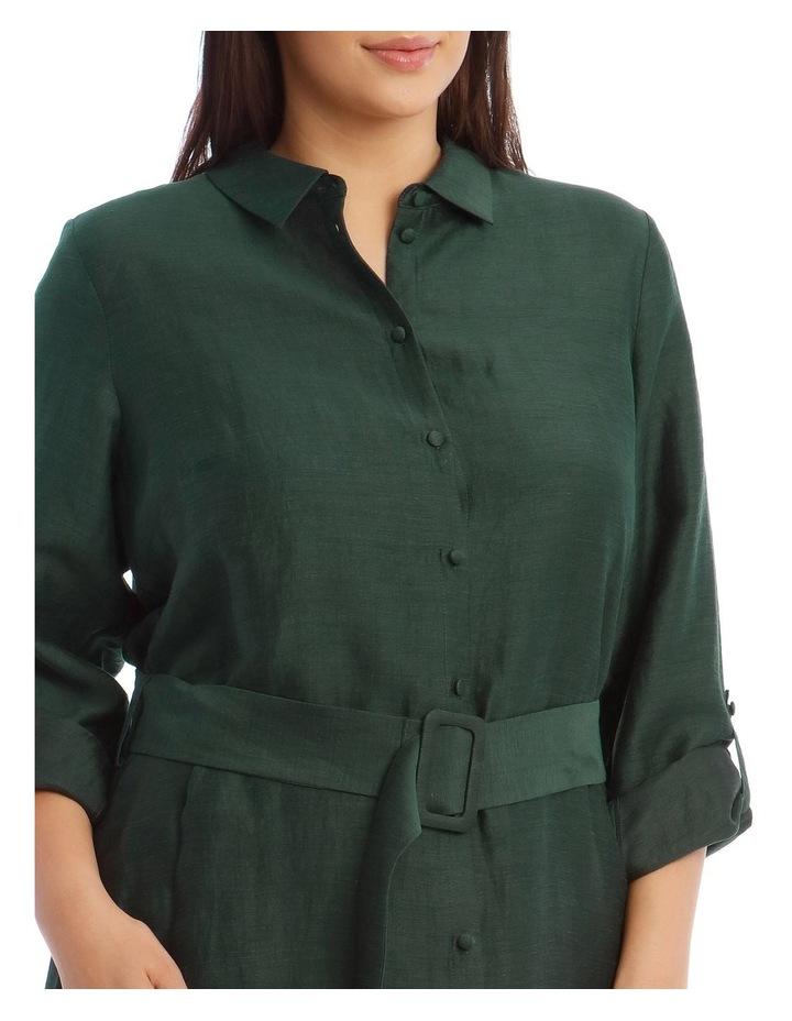 Linen Blend Shirt Dress image 4