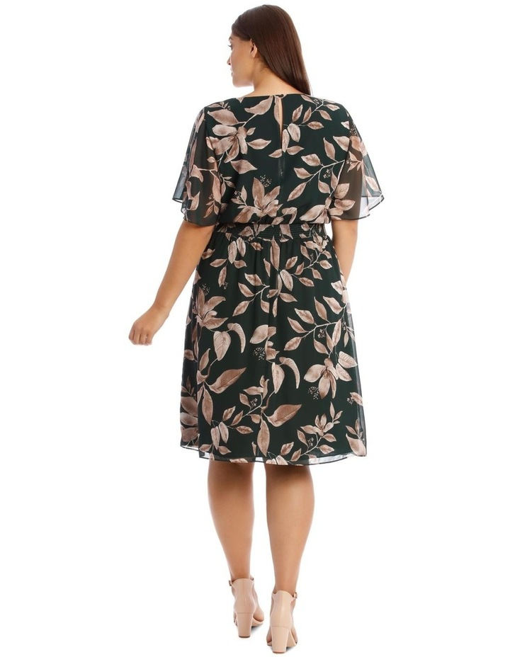 Shirred Waisted Printed Dress image 3