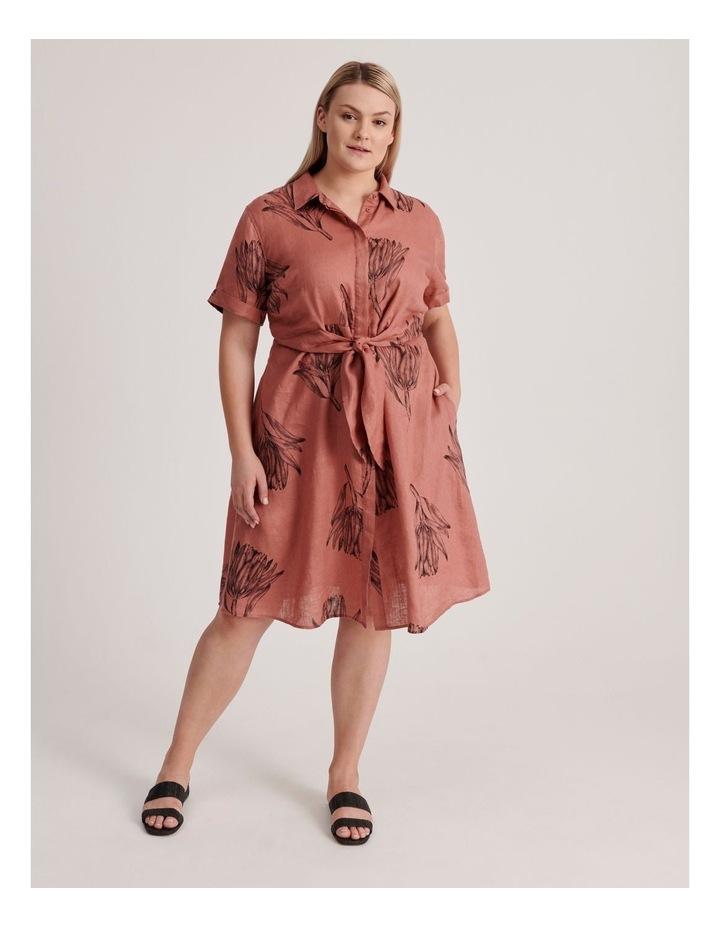 Tie Front Linen Dress image 1