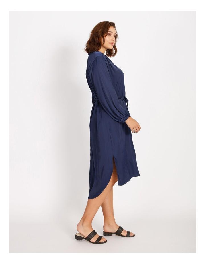 Relaxed Satin Shirt Dress image 2