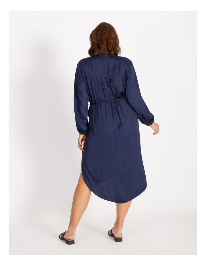 Relaxed Satin Shirt Dress image 3