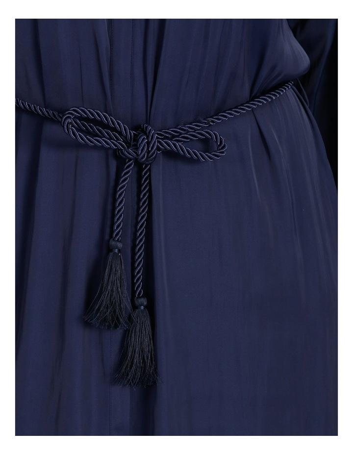 Relaxed Satin Shirt Dress image 4