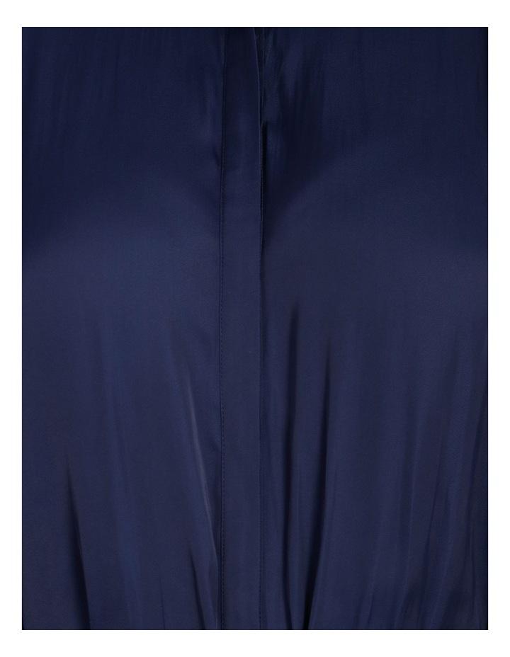 Relaxed Satin Shirt Dress image 5