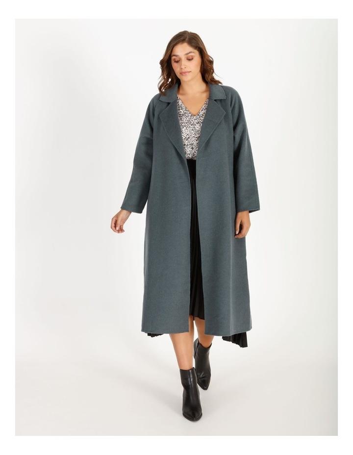 Longline Self-Tie Wrap Coat image 1
