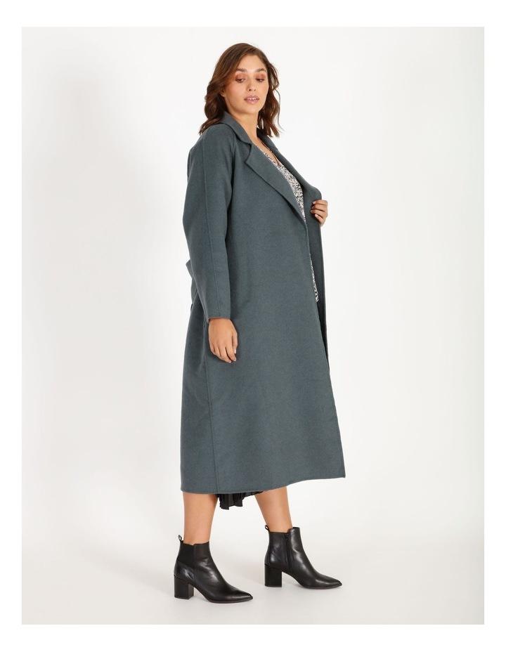 Longline Self-Tie Wrap Coat image 2