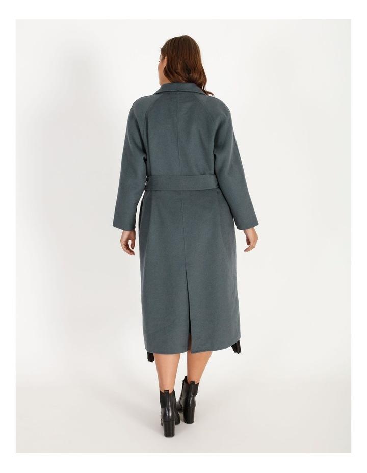 Longline Self-Tie Wrap Coat image 3