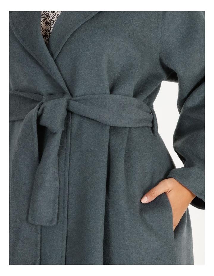 Longline Self-Tie Wrap Coat image 4