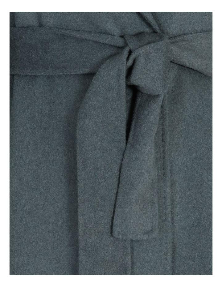 Longline Self-Tie Wrap Coat image 5