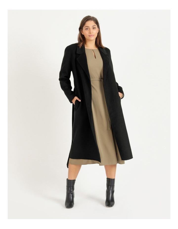 Wool Blend Wrap Coat image 1