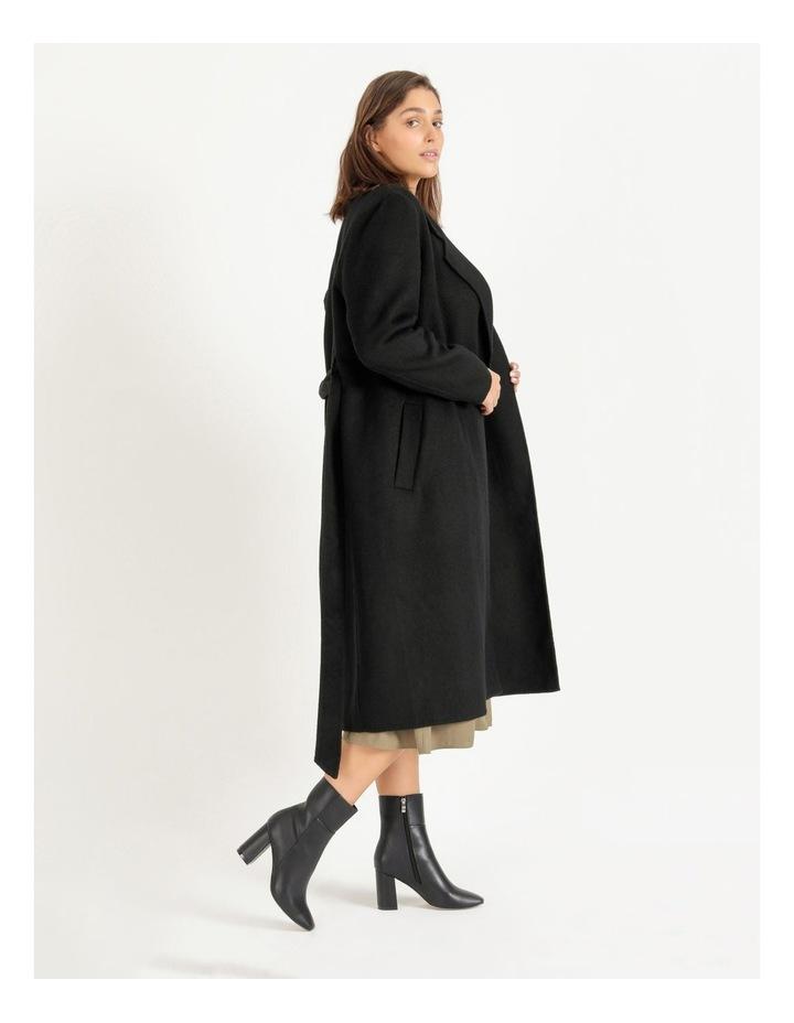Wool Blend Wrap Coat image 3