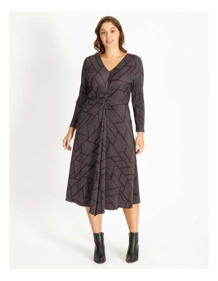 Tuck Detail Long Sleeve Jersey Dress image 1