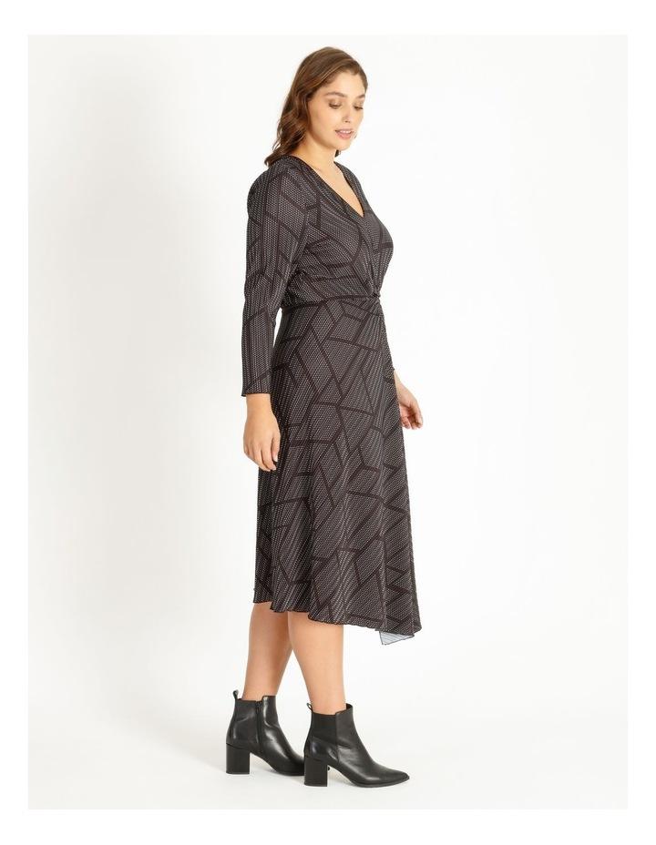 Tuck Detail Long Sleeve Jersey Dress image 2