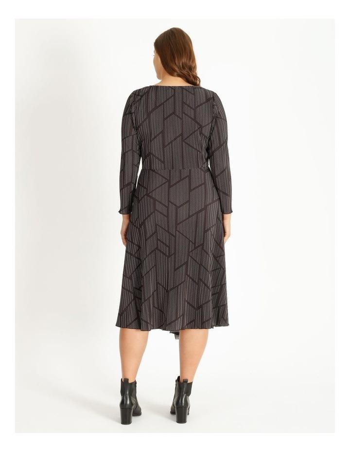 Tuck Detail Long Sleeve Jersey Dress image 3