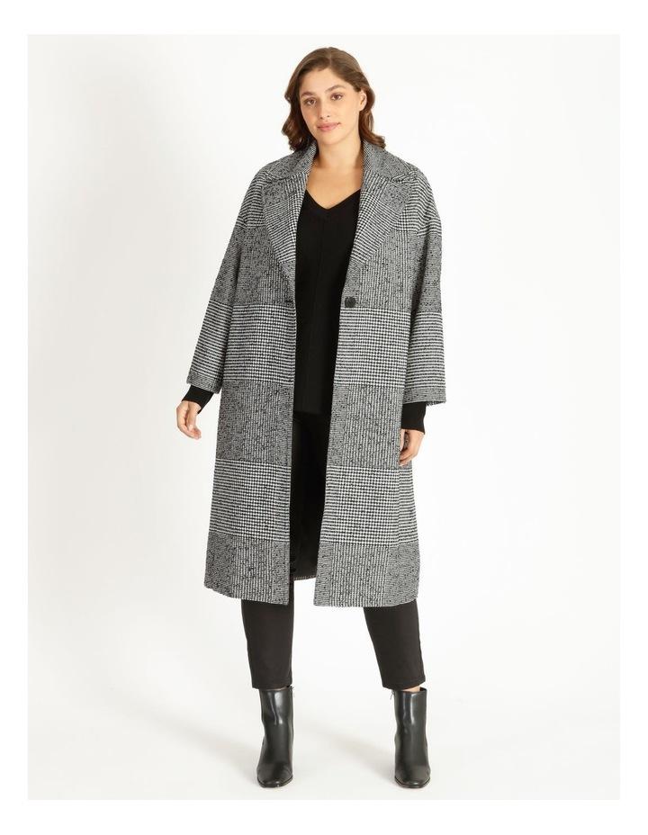 Check Longline Boxy Coat image 1