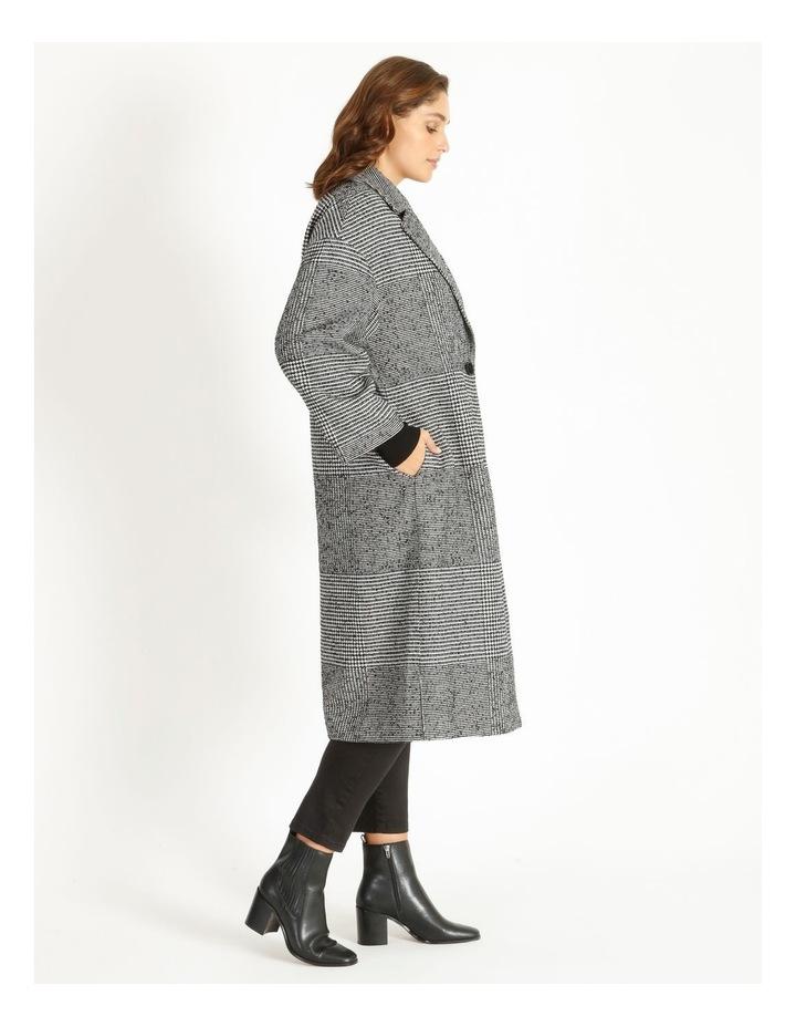 Check Longline Boxy Coat image 2