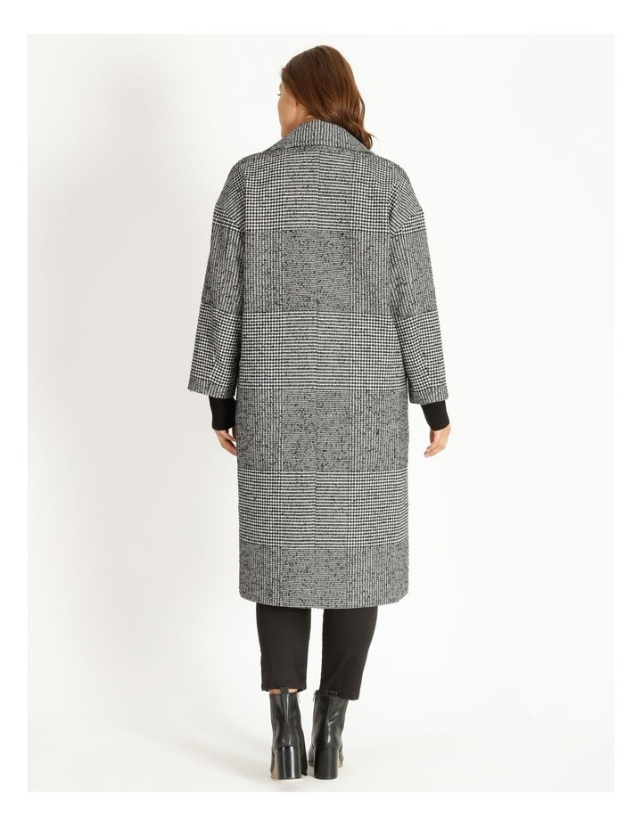Check Longline Boxy Coat image 3