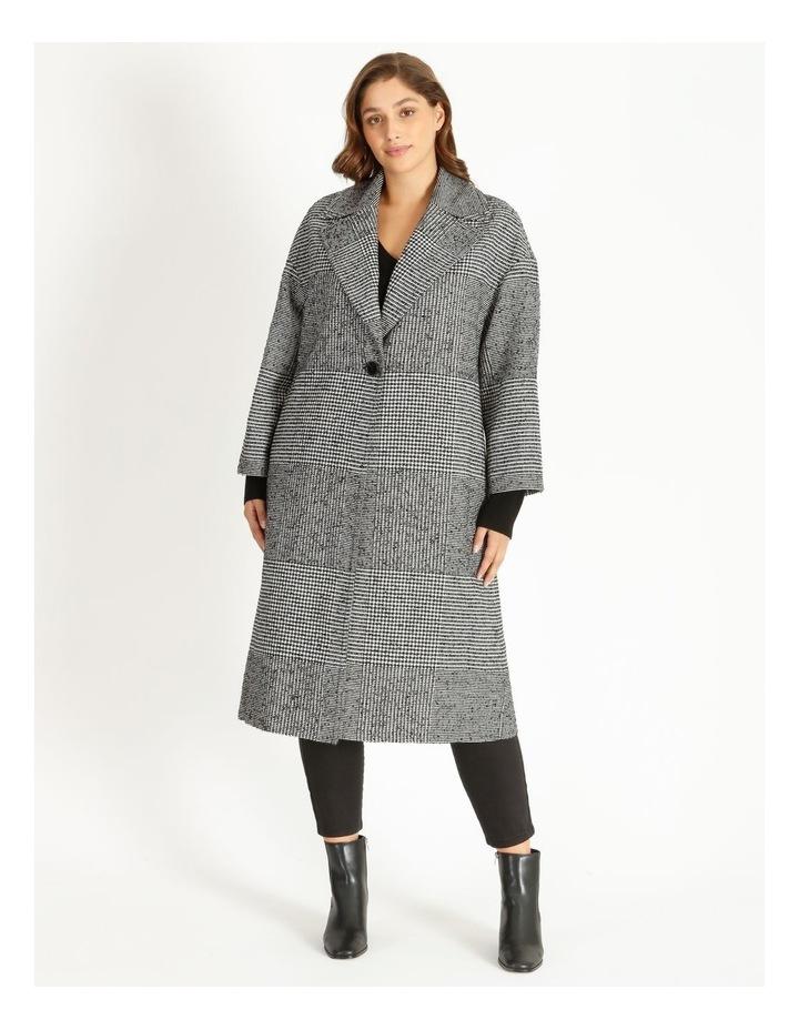 Check Longline Boxy Coat image 4