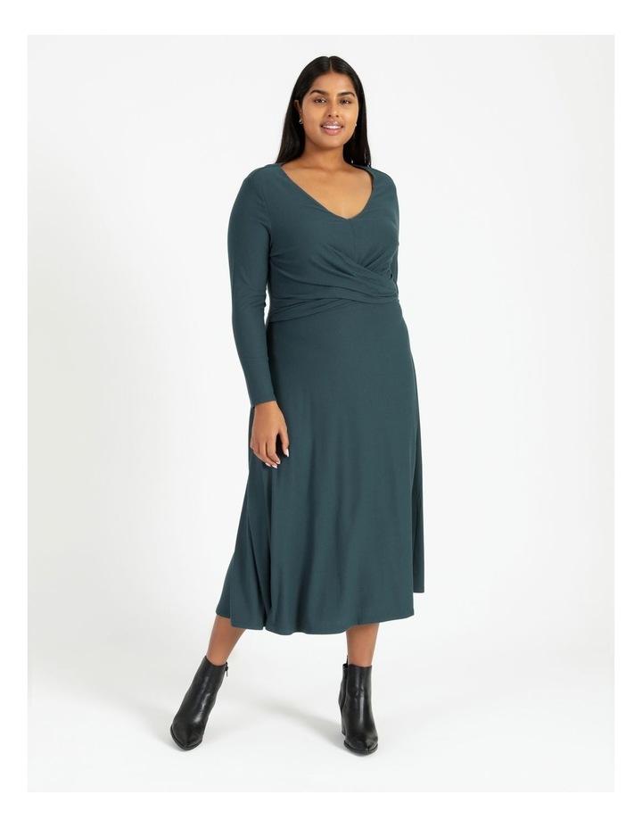 Long Sleeve Twist Jersey Dress image 1