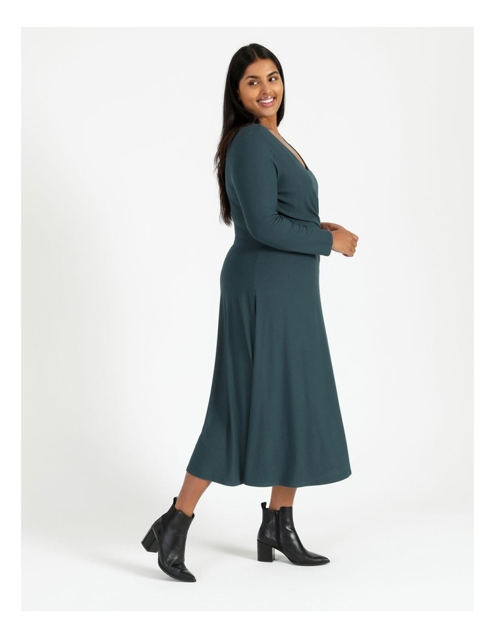 Long Sleeve Twist Jersey Dress image 2