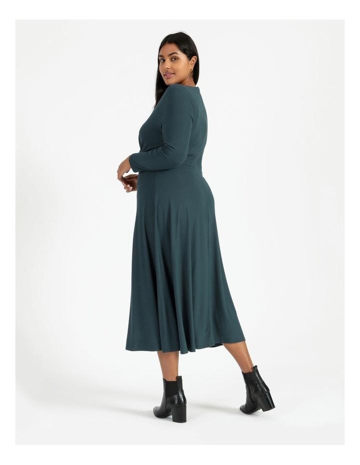 Long Sleeve Twist Jersey Dress image 3