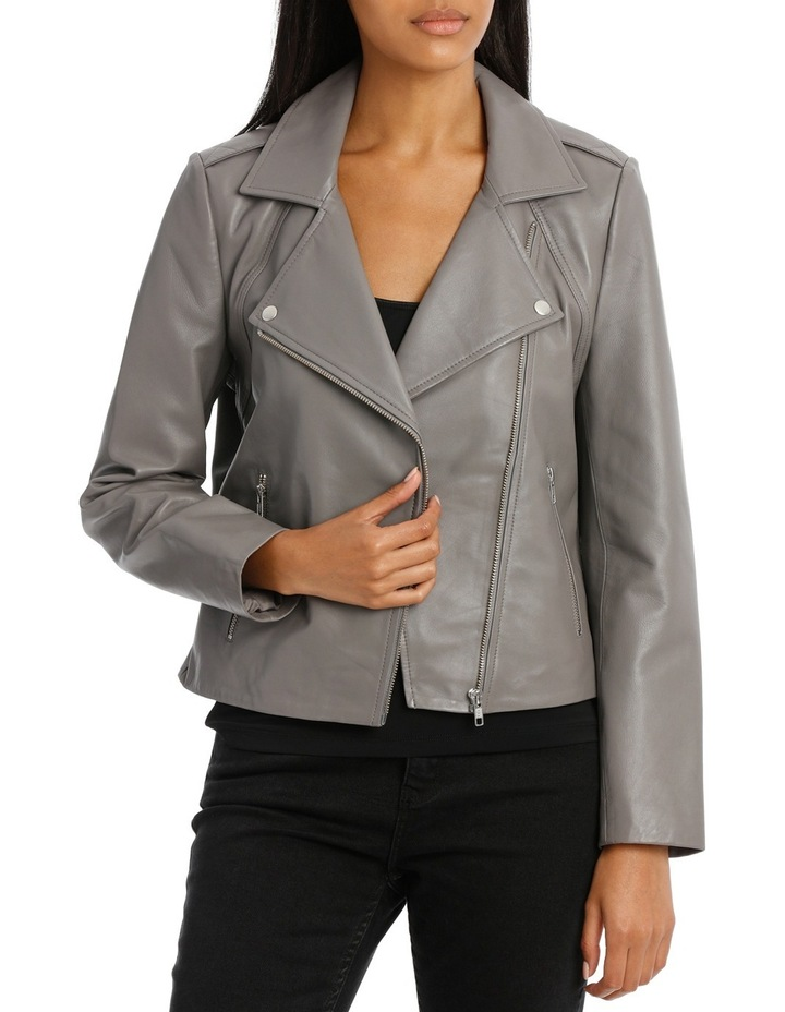 Jacket Leather with Zip detail image 1