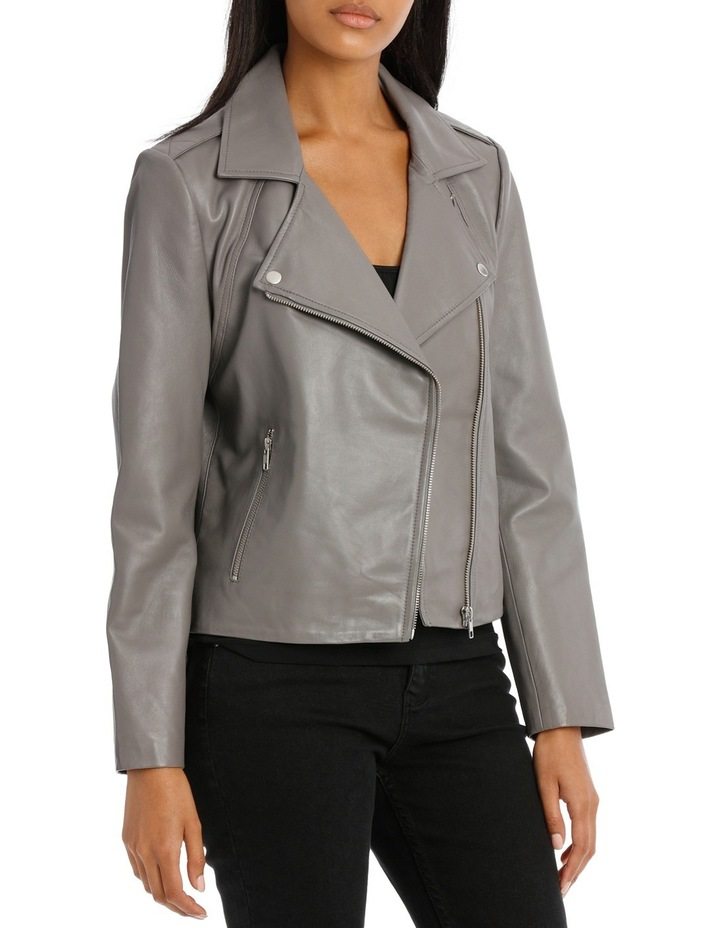 Jacket Leather with Zip detail image 2
