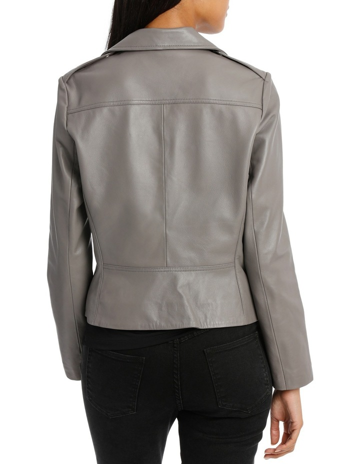 Jacket Leather with Zip detail image 3