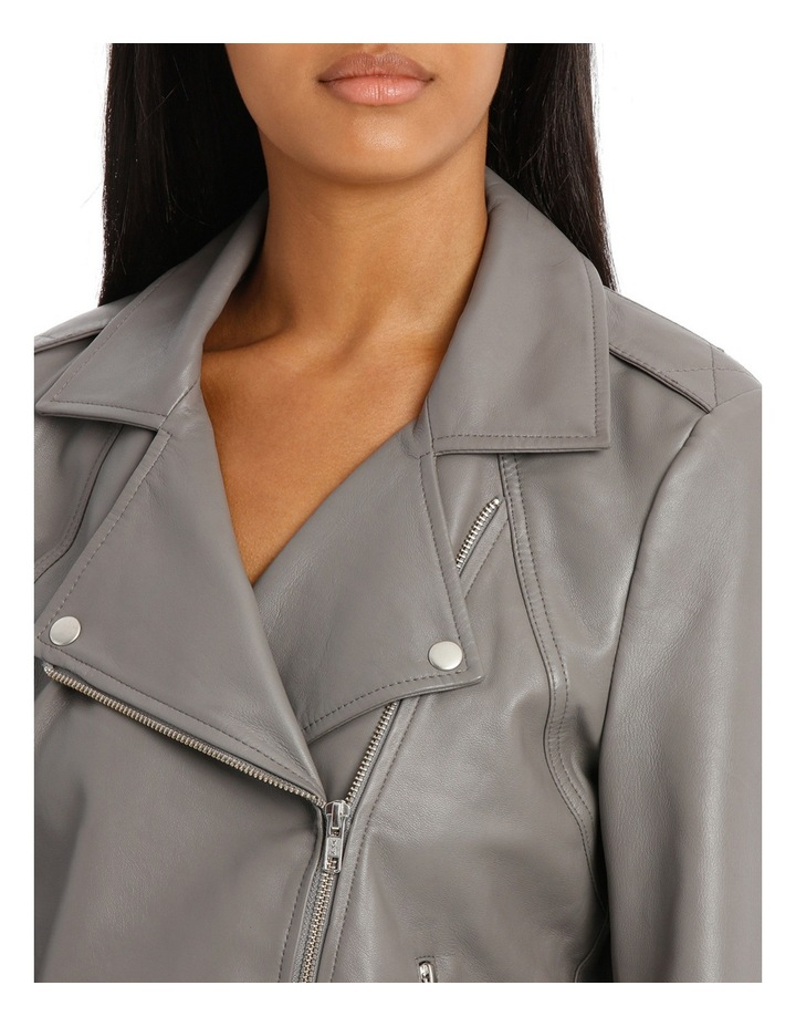 Jacket Leather with Zip detail image 4